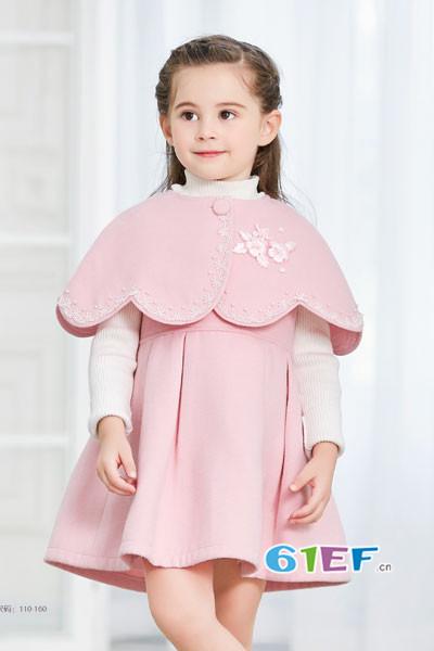 卡莎梦露童装品牌2017年秋冬公主斗篷连衣裙