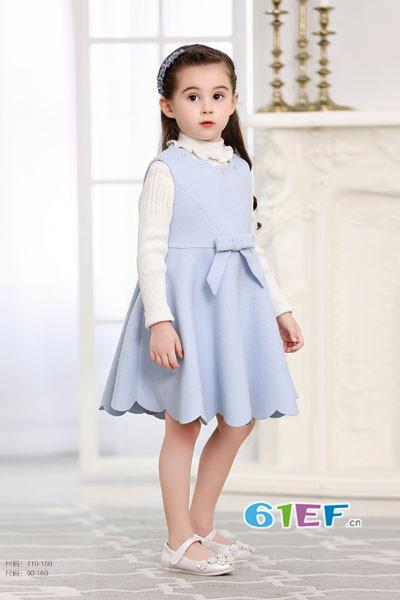 卡莎梦露童装品牌2017年秋冬公主无袖连衣裙