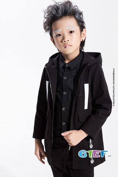 小猪芭那童装品牌2017年秋冬韩版中长款休闲外套