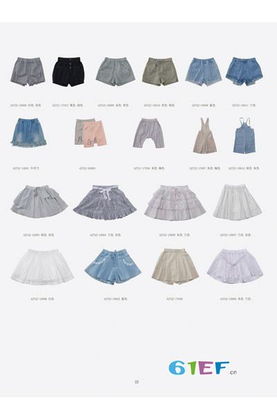 林芊美眉童装品牌2017年夏季短裤/裙子