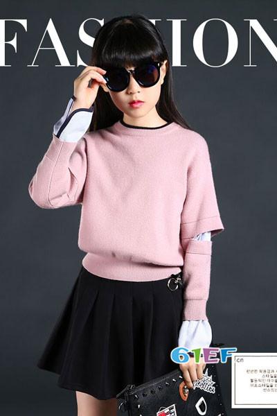 米咪咔童装品牌2017年秋季潮童针织毛衣