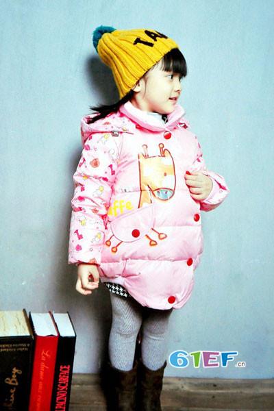 dishion的纯童装品牌2017年秋冬韩版中长款呢大衣