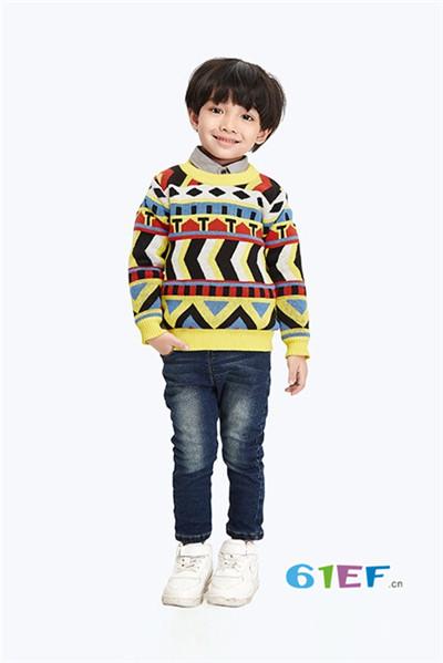 伟尼熊童装品牌2017年秋冬针织毛衣