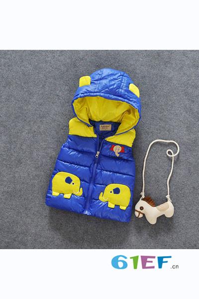 小海岛童装童装品牌2017年秋冬羽绒马甲