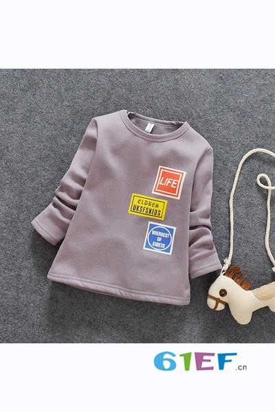 小海岛童装童装品牌2017年秋冬棉T恤