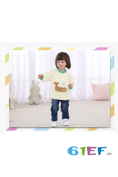 米豆酷尔童装品牌  防水儿童罩衣