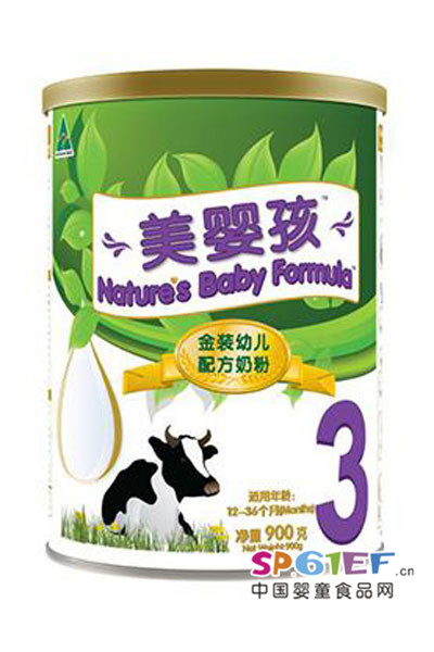 美婴孩婴儿食品 金装幼儿配方奶粉3段
