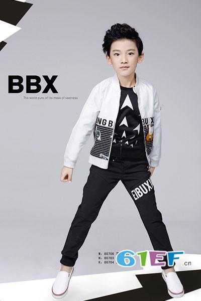 贝布熊BeiBuXiong童装品牌2017年秋冬潮童印花棒球服