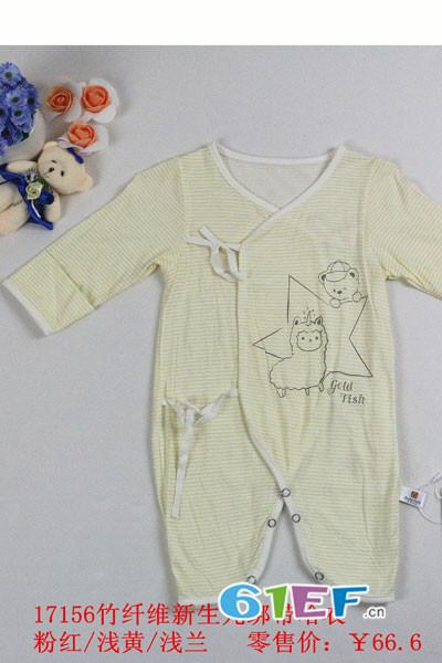 金色小鱼童装品牌新生儿连体衣