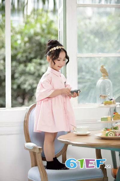 DIZAI童装品牌2017年秋冬个性韩式女衬裙