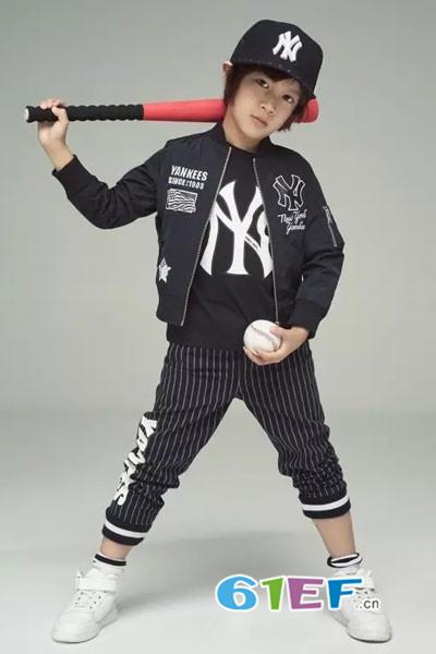 MLBKIDS童装品牌2017年秋季流行又百搭的棒球衫