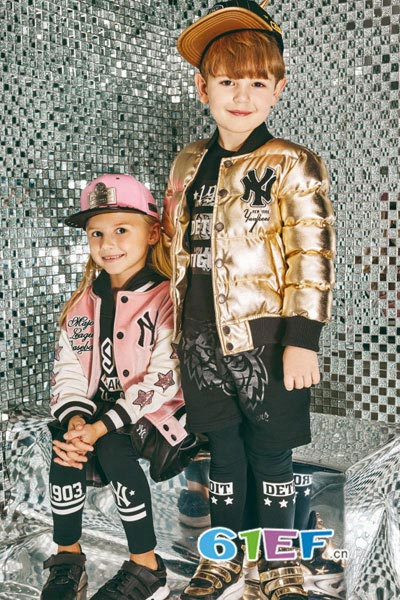 MLBKIDS童装品牌2017年秋季亮色棒球服