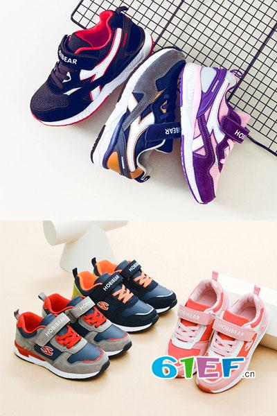 HappyBear哈比熊童鞋品牌2017年秋冬运动舒适户外男女鞋