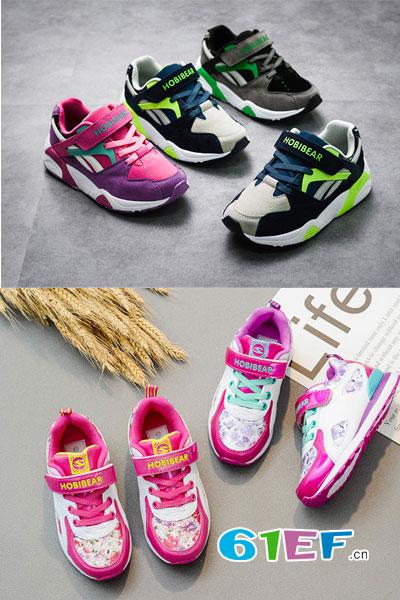 HappyBear哈比熊童鞋品牌2017年秋冬运动舒适保暖男女鞋