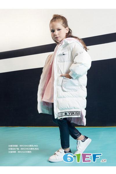 YukiSo童装品牌2017年秋冬时尚休闲女棉衣