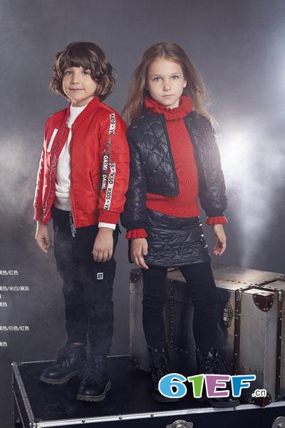 YukiSo童装品牌2017年秋冬休闲太空棉男女棉衣