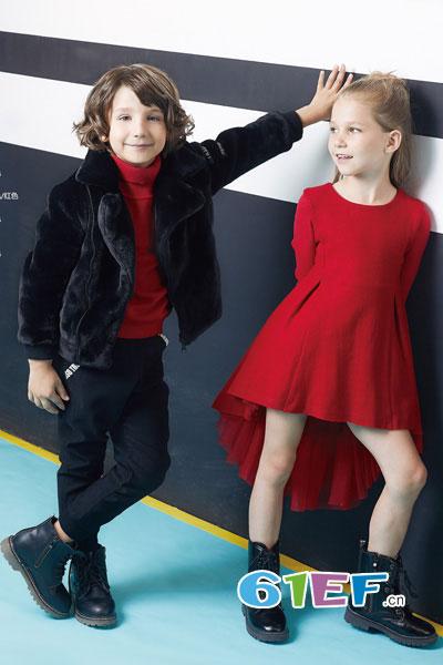 YukiSo童装品牌2017年秋冬个性韩式男毛绒外套