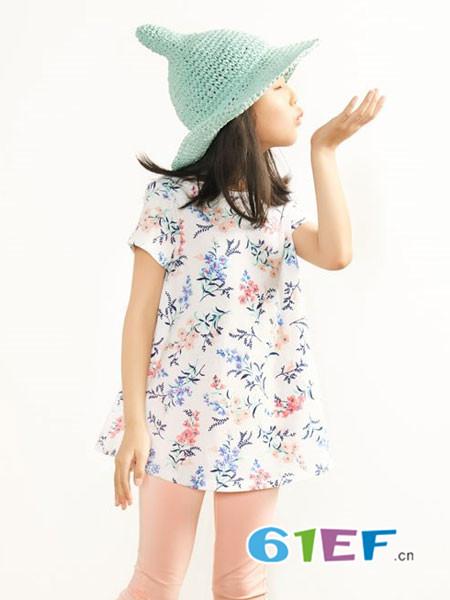 布景亲子时尚甜美印花衬裙