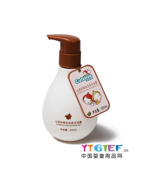 天使森林婴童用品山茶籽精华洗发沐浴露