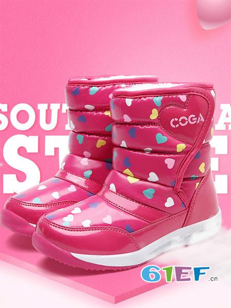 coga酷嘎童鞋品牌2017年秋冬雪地鞋加厚保暖冬靴短靴