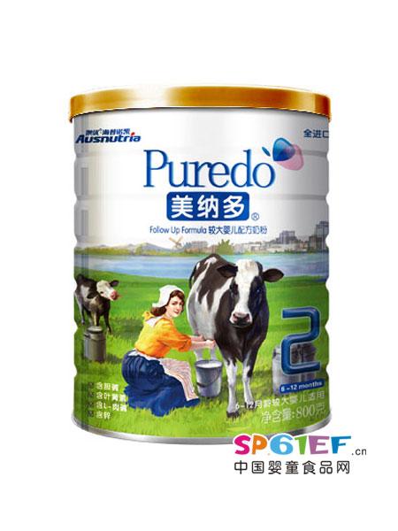 美纳多婴儿食品配方奶粉2段