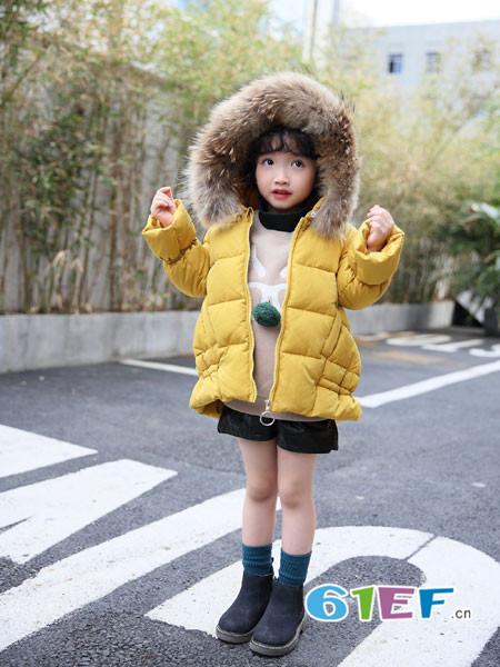 加菲A梦童装品牌2017年秋冬韩版面包服棉袄中大童冬装外套加厚保暖棉服