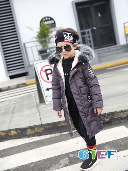 加菲A梦龙8国际娱乐官网品牌2017年秋冬时尚休闲中长保暖男棉大衣