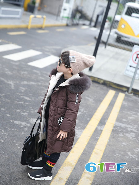 加菲A梦龙8国际娱乐官网品牌2017年秋冬时尚休闲中长保暖棉男大衣