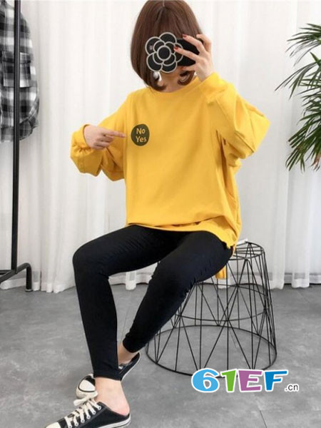 圣昊孕妇品牌2017年秋冬时尚字母休闲宽松卫衣