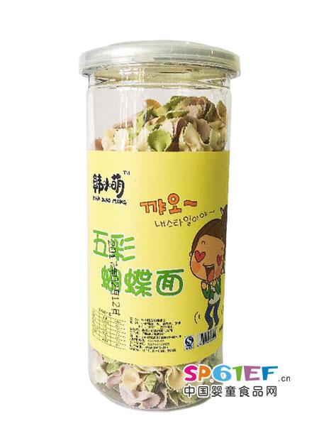 韩小萌婴儿食品五彩蝴蝶面
