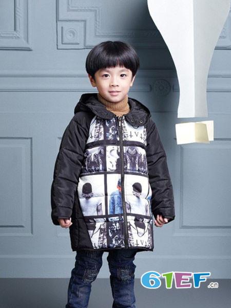 世纪童话童装品牌2017年秋冬个性休闲男棉衣外套