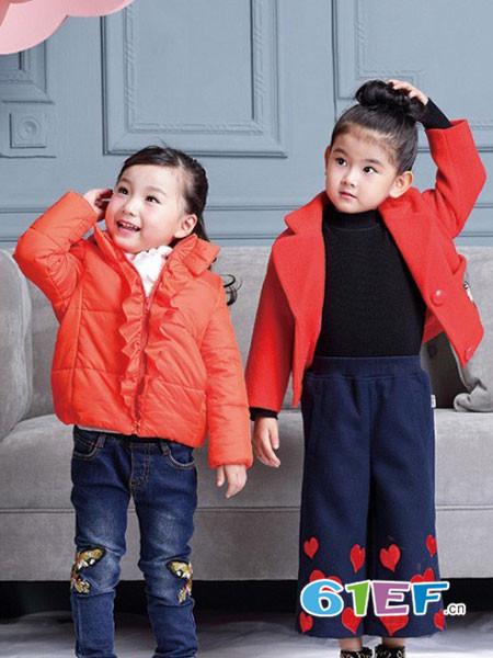 世纪童话童装品牌2017年秋冬时尚韩式女棉衣呢子外套