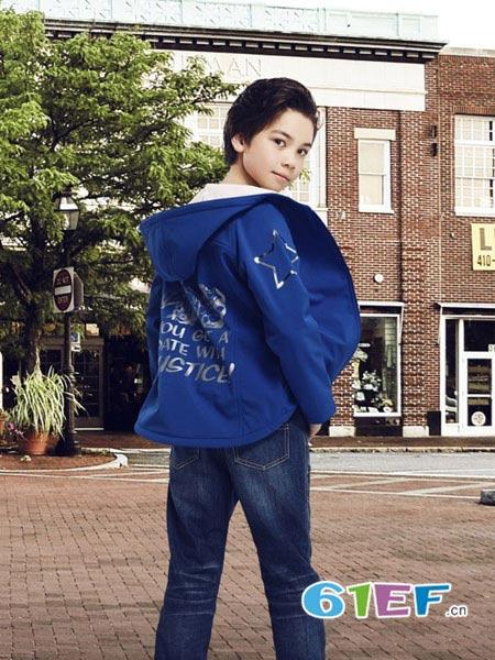 世纪童话童装品牌2017年秋冬时尚休闲男风衣外套
