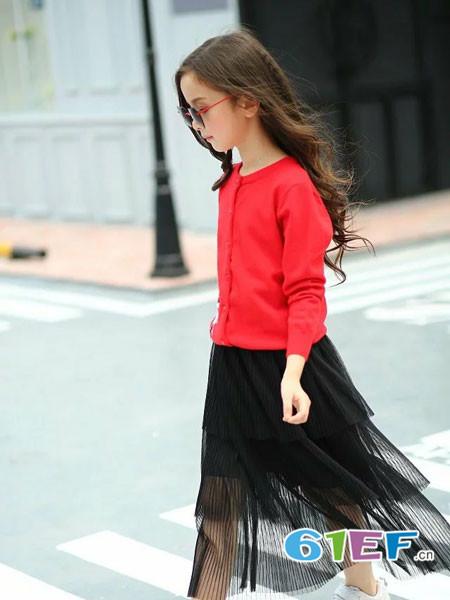 下一个奇迹童装品牌2017年秋冬时尚甜美针织女毛衣外套