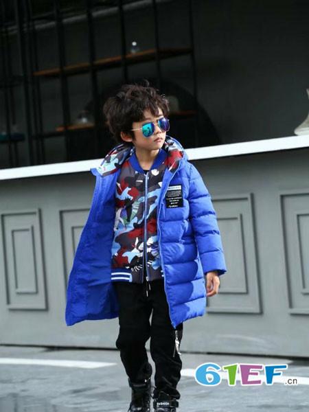 下一个奇迹童装品牌时尚休闲中长保暖男棉衣外套