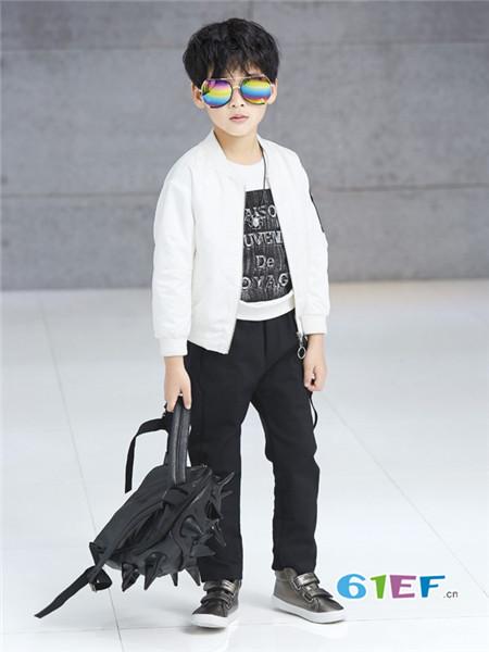 布衣班纳童装品牌2017年秋季时尚休闲男棉衣