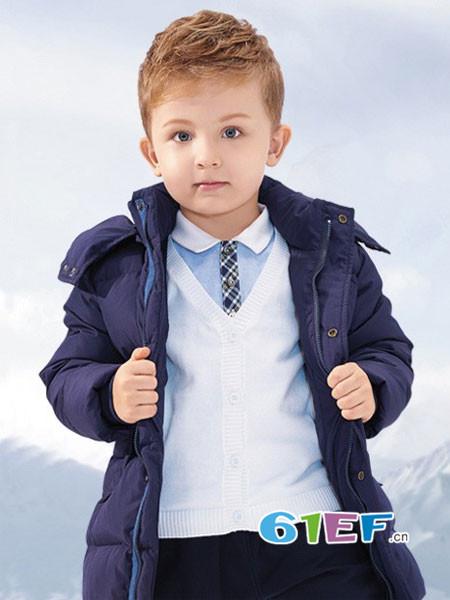 哥比兔童装品牌2017年秋冬时尚休闲保暖男棉衣外套