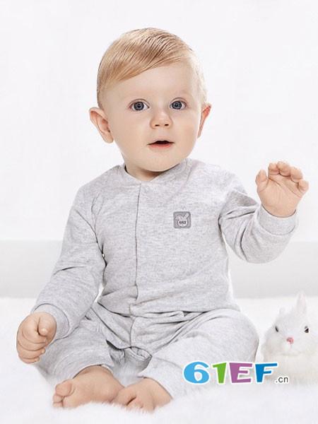 哥比兔童装品牌2017年秋冬时尚舒适保暖打底睡衣套装