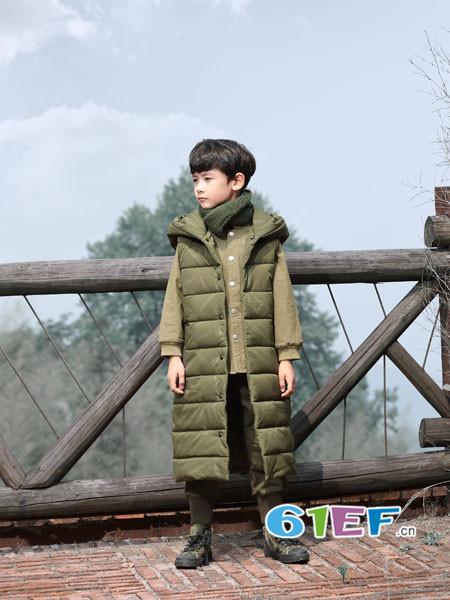琦瑞德泽童装品牌2017年秋冬个性休闲男长款保暖马夹棉外套