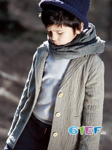 ANNESPET童装品牌2018年春夏时尚休闲男棉麻西装领外套