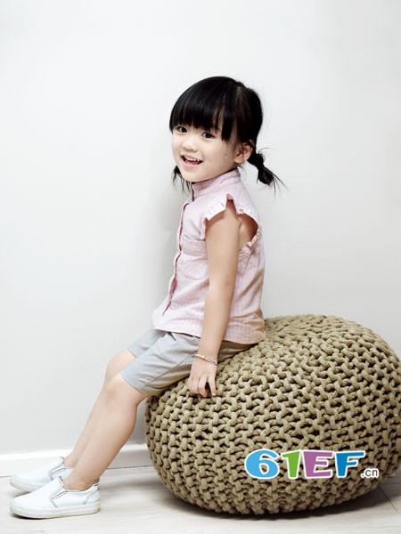 ANNESPET童装品牌2018年春夏韩式花边袖棉麻女上衣