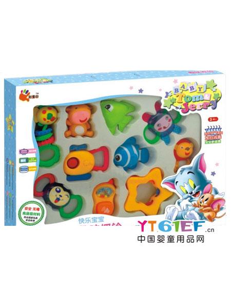 新童谷婴童玩具猫和老鼠快乐宝宝趣味摇铃