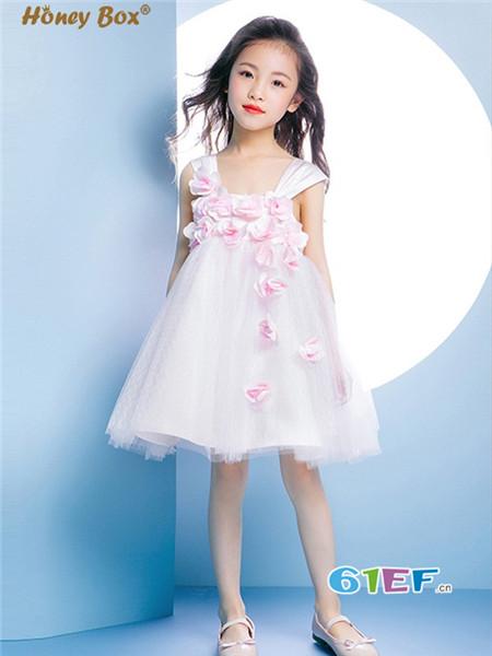 蜂蜜箱子童装品牌韩版小公主跳舞裙无袖碎花裙