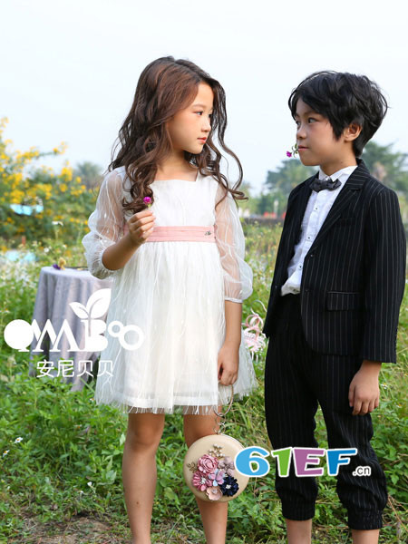 onnabobo安尼贝贝童装品牌2018年春夏新品韩版长袖公主裙纱裙