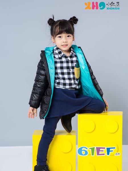 小红豆童装童装品牌2017年秋冬时尚休闲保暖女棉衣外套