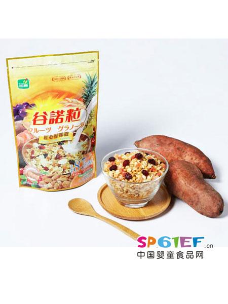 三机婴儿食品谷诺粒红心甘薯水果麦片