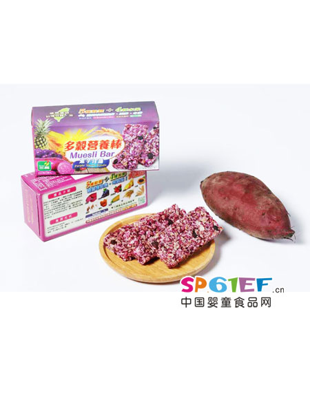 三机婴儿食品谷诺粒紫薯营养棒