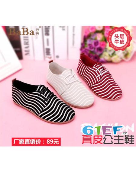 巴巴童鞋品牌2017年秋冬时尚休闲女罗马鞋