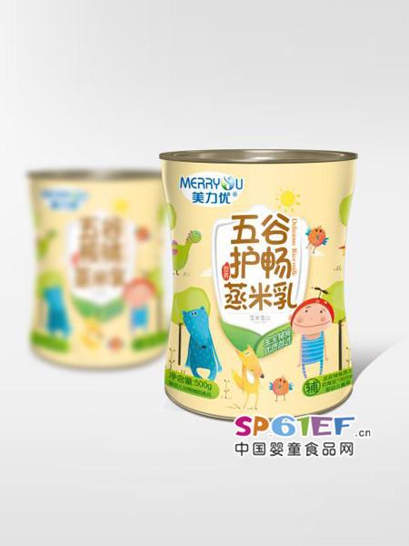 美力优五谷护畅蒸米乳玉米淮山婴儿辅食