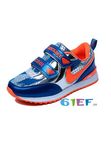 小磁怪童鞋品牌2017年秋冬七彩底儿童跑步鞋厚底防滑时尚休闲鞋男童运动鞋